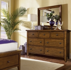 aspenhome Cross Country Dresser with Mirror