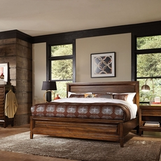 aspenhome Walnut Park Panel Bed