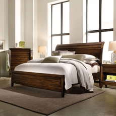 aspenhome Walnut Park Sleigh Bed