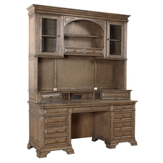 aspenhome Arcadia 72 Inch Credenza Desk and Hutch
