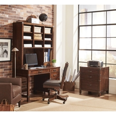 aspenhome Canfield 50 Inch Junior Desk and Hutch with Chair
