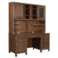aspenhome Canfield 66 Inch Credenza and Hutch