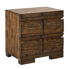 aspenhome Dimensions 2 Drawer Nightstand in Spiced Rum