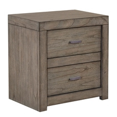 aspenhome Modern Loft 2 Drawer Power Nightstand in Grey