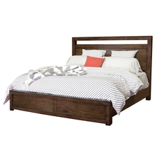 aspenhome Modern Loft Cal King Panel Bed in Brownstone