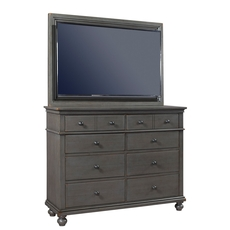 aspenhome Oxford Chesser with TV Frame in Peppercorn