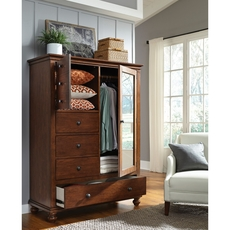 aspenhome Oxford Chiffarobe in Whiskey Brown