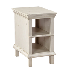 aspenhome Preferences Chairside Table in Linen