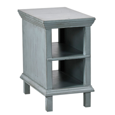 aspenhome Preferences Chairside Table in Sable Blue