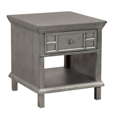 aspenhome Preferences End Table in Metallic