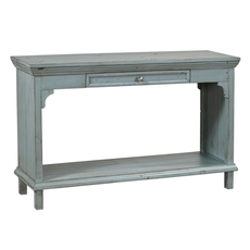 aspenhome Preferences Sofa Table in Sable Blue