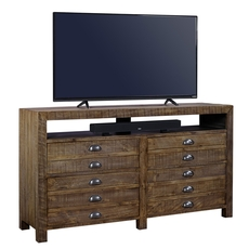 aspenhome Printworks 65 Inch Console in Rum