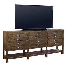 aspenhome Printworks 93 Inch Console in Rum