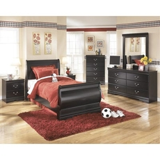 Signature Design by Ashley Huey Vineyard Twin Sleigh 5 Piece Bedroom Set