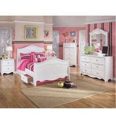 Signature Design by Ashley Exquisite Full Sleigh 5 Piece Bedroom Set with Underbed Storage