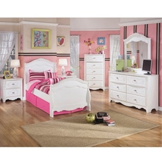 Signature Design by Ashley Exquisite Twin Sleigh 5 Piece Bedroom Set