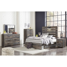 Signature Design by Ashley Drystan Full Panel 5 Piece Bedroom Set with Underbed Storage