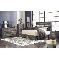 Signature Design by Ashley Drystan Queen Panel 5 Piece Bedroom Set with Underbed Storage
