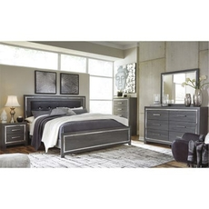 Signature Design by Ashley Lodanna King Panel 5 Piece Bedroom Set
