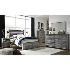 Signature Design by Ashley Baystorm Full Panel 5 Piece Bedroom Set with Footboard Storage