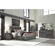 Signature Design by Ashley Baystorm Queen Panel 5 Piece Bedroom Set with Footboard Storage
