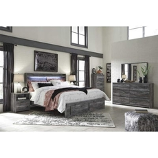 Signature Design by Ashley Baystorm King Panel 5 Piece Bedroom Set with Underbed Storage