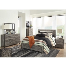 Signature Design by Ashley Cazenfeld King Panel 5 Piece Bedroom Set