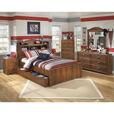 Signature Design by Ashley Barchan Full Bookcase with Trundle 5 Piece Bedroom Set