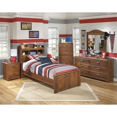 Signature Design by Ashley Barchan Twin Bookcase 5 Piece Bedroom Set