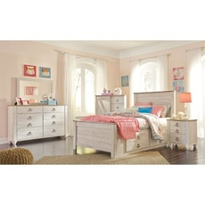 Signature Design by Ashley Willowton Full Storage 5 Piece Bedroom Set