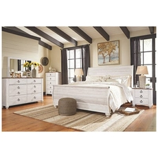 Signature Design by Ashley Willowton King Sleigh 5 Piece Bedroom Set