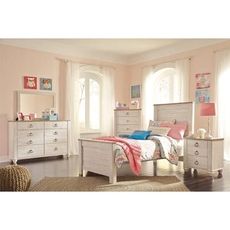 Signature Design by Ashley Willowton Twin 5 Piece Bedroom Set