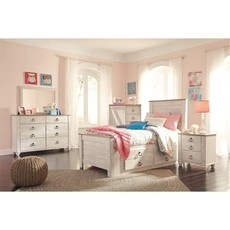 Signature Design by Ashley Willowton Twin Storage 5 Piece Bedroom Set