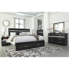 Signature Design by Ashley Starberry King Panel Storage 5 Piece Bedroom Set