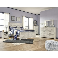 Signature Design by Ashley Bellaby King Crossbuck Panel 5 Piece Bedroom Set