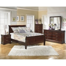 Signature Design by Ashley Alisdair Full Sleigh 5 Piece Bedroom Set