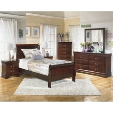 Signature Design by Ashley Alisdair Twin Sleigh 5 Piece Bedroom Set
