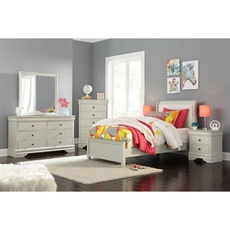 Signature Design by Ashley Jorstad Twin Sleigh 5 Piece Bedroom Set