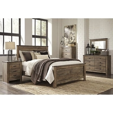 Signature Design by Ashley Trinell King Panel 5 Piece Bedroom Set