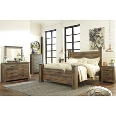 Signature Design by Ashley Trinell King Poster 5 Piece Bedroom Set