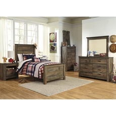 Signature Design by Ashley Trinell Twin Panel 5 Piece Bedroom Set