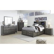 Signature Design by Ashley Caitbrook Full Panel Storage 5 Piece Bedroom Set