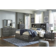 Signature Design by Ashley Caitbrook King Panel Storage 5 Piece Bedroom Set
