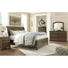 Signature Design by Ashley Flynnter Cal King Sleigh Storage 5 Piece Bedroom Set