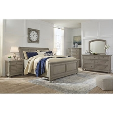 Signature Design by Ashley Lettner King Sleigh 5 Piece Bedroom Set
