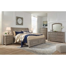 Signature Design by Ashley Lettner King Sleigh Storage 5 Piece Bedroom Set
