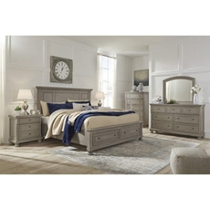 Signature Design by Ashley Lettner Cal King Panel Storage 5 Piece Bedroom Set