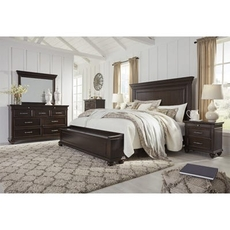 Signature Design by Ashley Brynhurst King Panel Storage 5 Piece Bedroom Set
