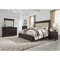 Signature Design by Ashley Brynhurst King Upholstered Panel 5 Piece Bedroom Set