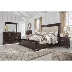 Signature Design by Ashley Brynhurst Queen Upholstered Panel Storage 5 Piece Bedroom Set